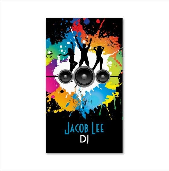 party people djs business card1