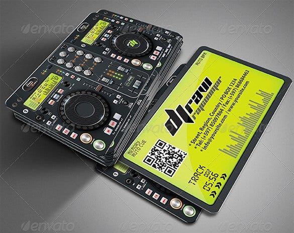 28  dj business cards templates