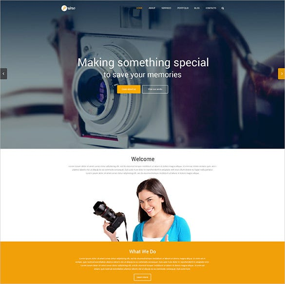 photography responsive wordpress bootstrap theme