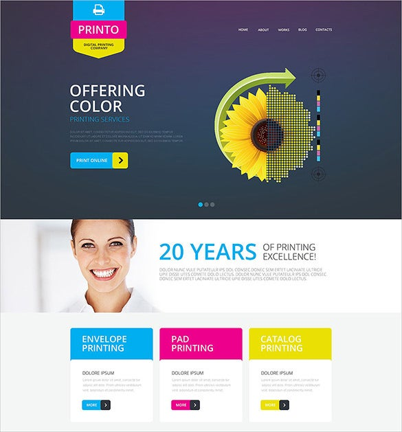 Photography Print Website Bootstrap Template Free Demo