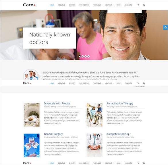 medical health blogging wordpress theme