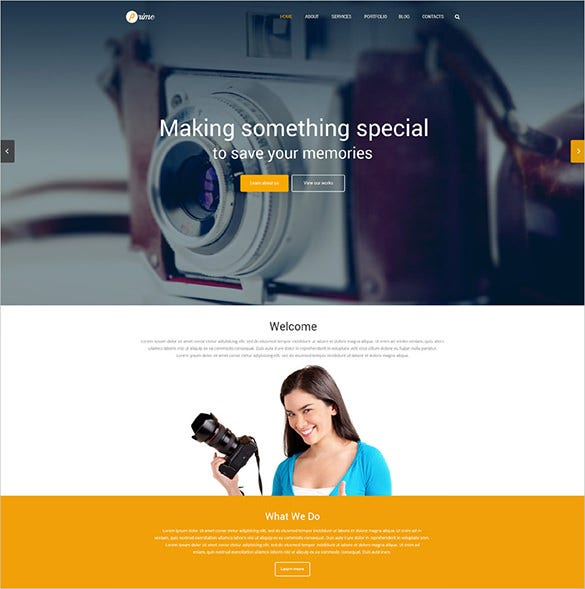 photography responsive wordpress php theme