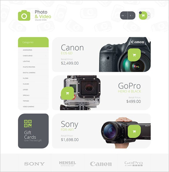 photo supplies photography opencart php template