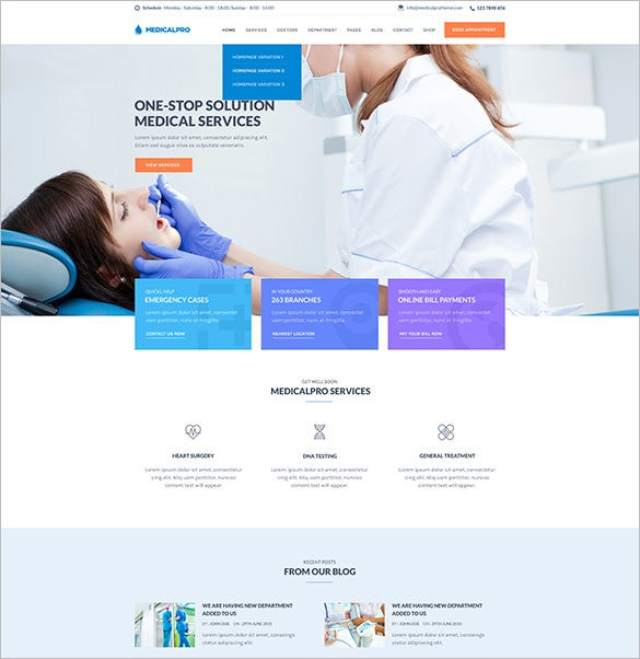 Blog: 14+ Medical Blog Themes & Templates