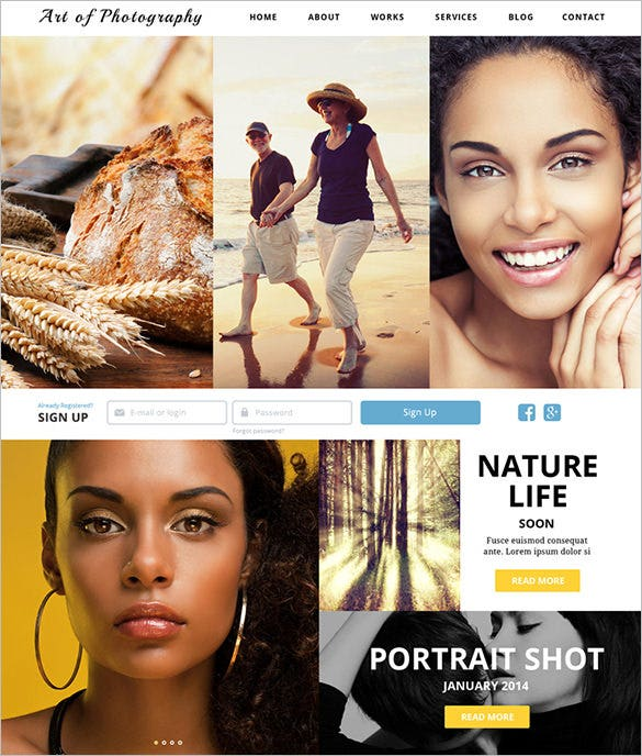 online photography exhibition joomla php template