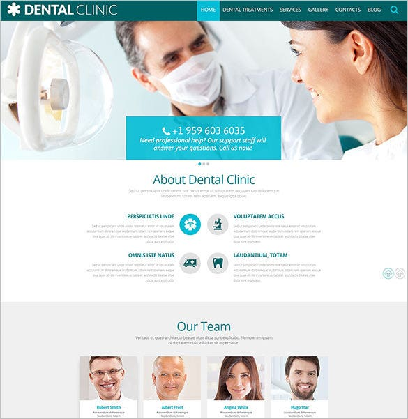 dental clinic wordpress blog theme