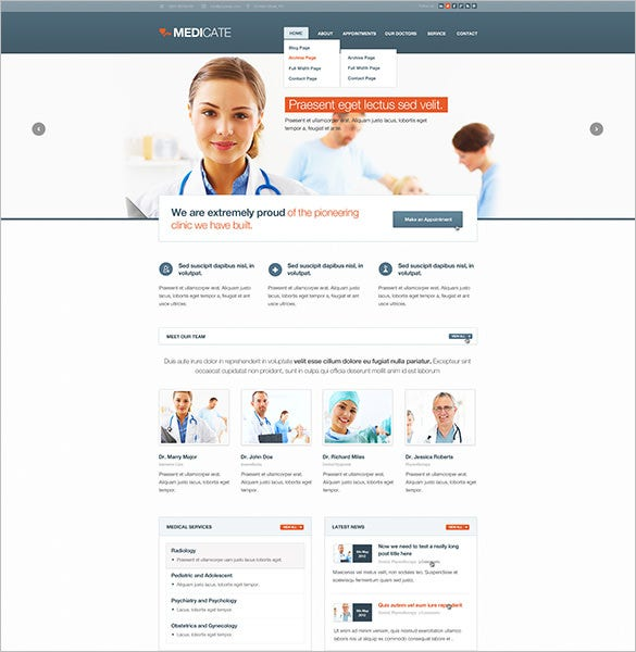medicate responsive medical health blog theme