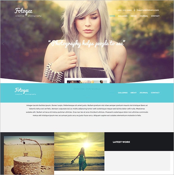 creative photography and portfolio template