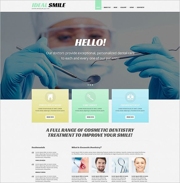 dentistry responsive wordpress blog theme