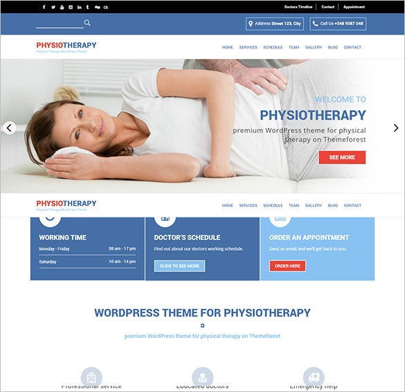 physiotherapy wordpress blog theme