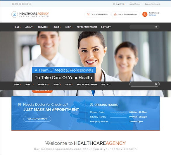 healthcare agency medical html blog theme