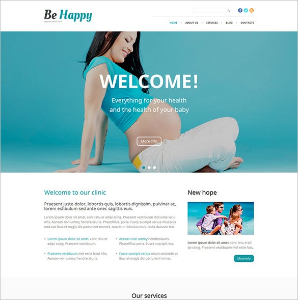 be happy wordpress blog theme