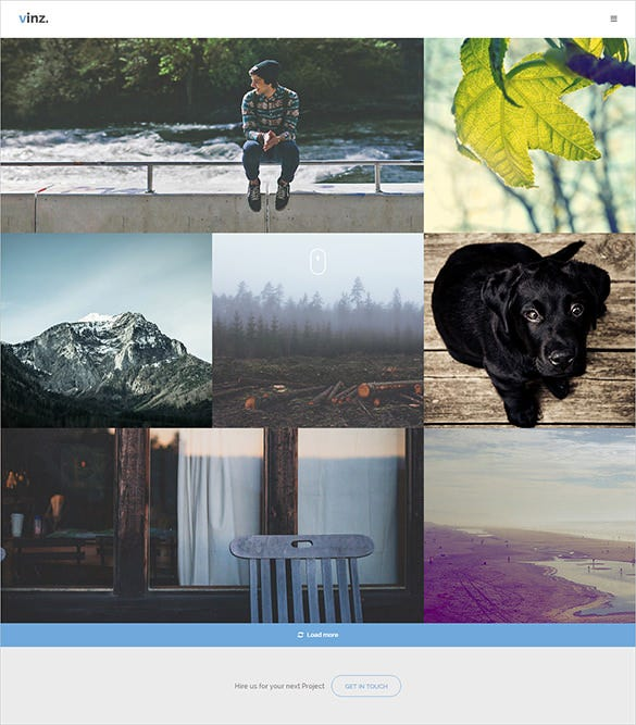 photography html php template