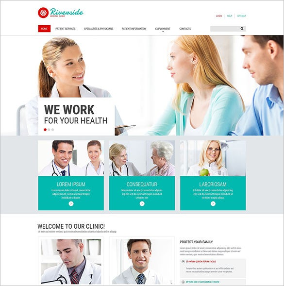 healthcare bootstrap template  20  Medical Bootstrap Themes