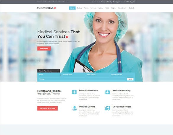 20+ Medical Bootstrap Themes & Templates | Free & Premium Templates