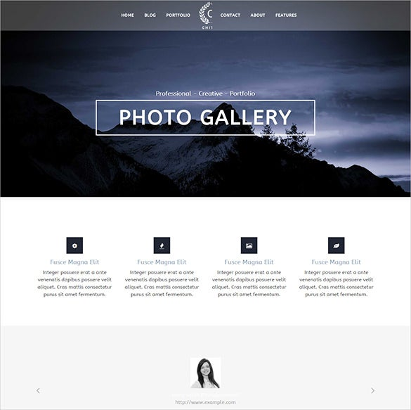 photography portfolio wordpress php theme