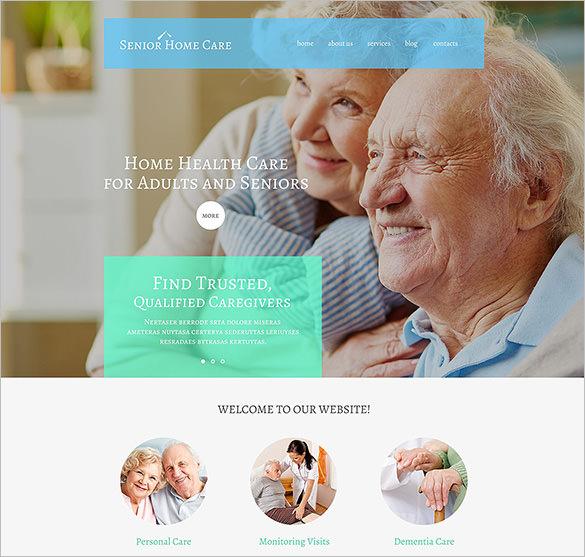 senior home care wordpress bootstrap theme