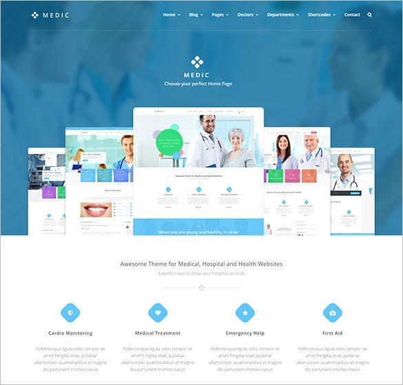 medical health hospital wp bootstrap theme