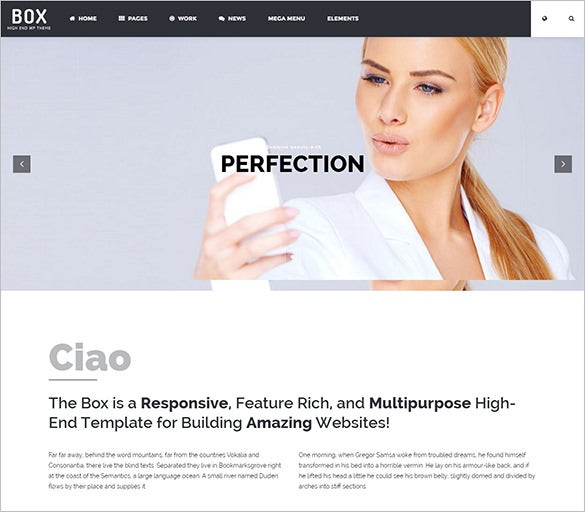 flexible photography wordpress php template