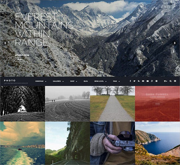 beautiful photography php theme