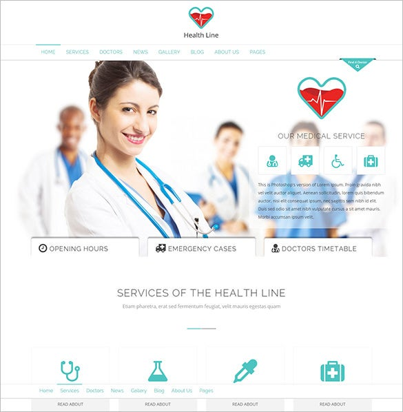 health line medic html bootstrap template