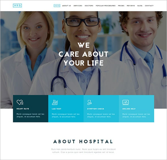 medical hospital healthcare bootstrap theme