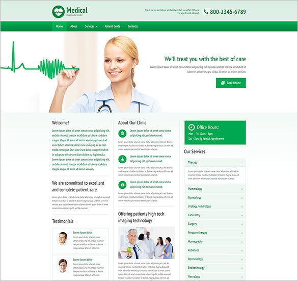 amazing medical responsive website bootstrap template