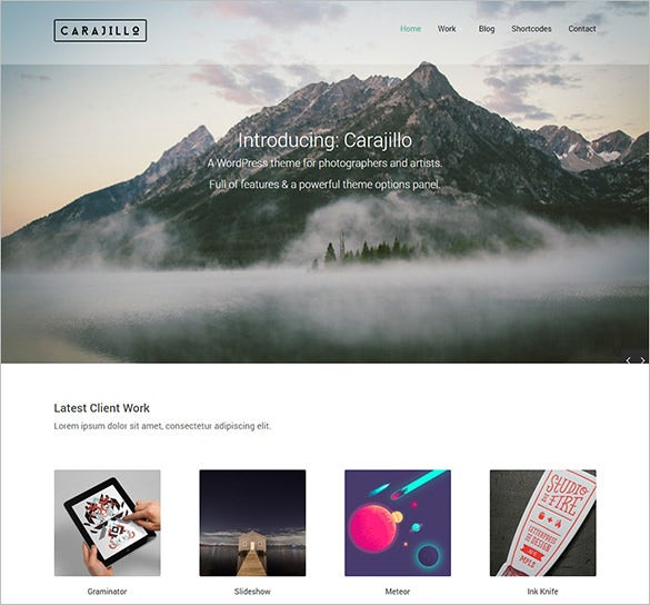 splendid photography php theme