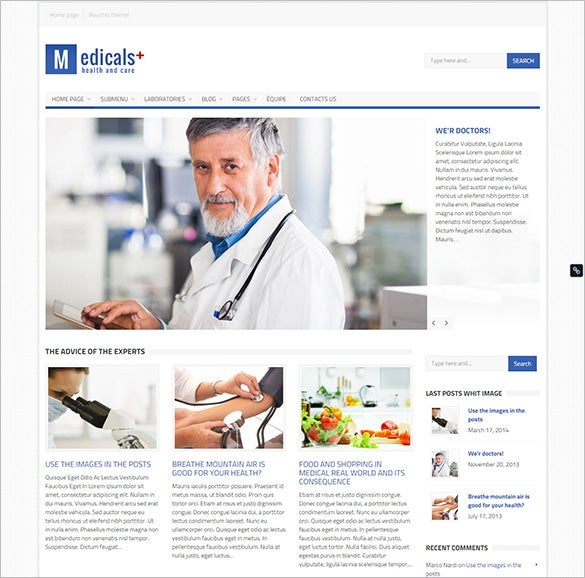 medical wordpress bootstrap theme download