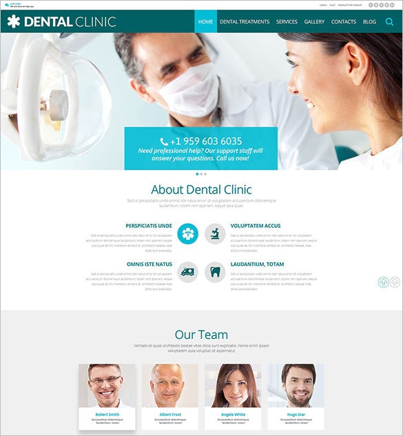 dental clinic wordpress bootstrap theme