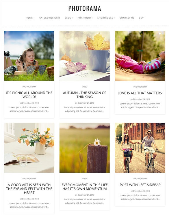 photorama photography wordpress php theme