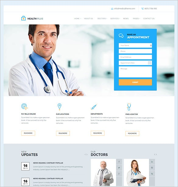 health medical php theme