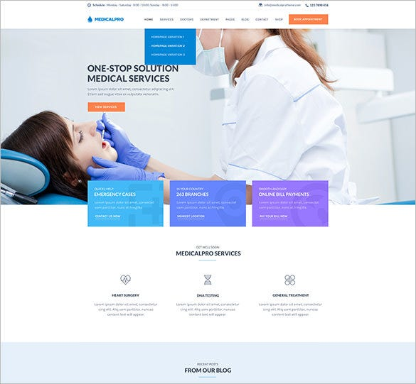 health medical wordpress php theme