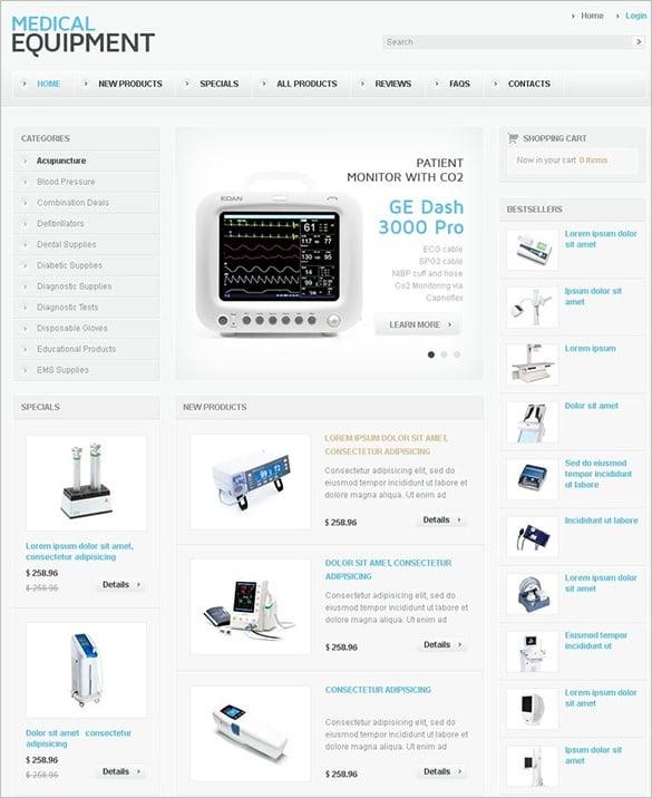 medical equipment zencart template