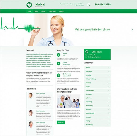 medical responsive moto cms 3 php template