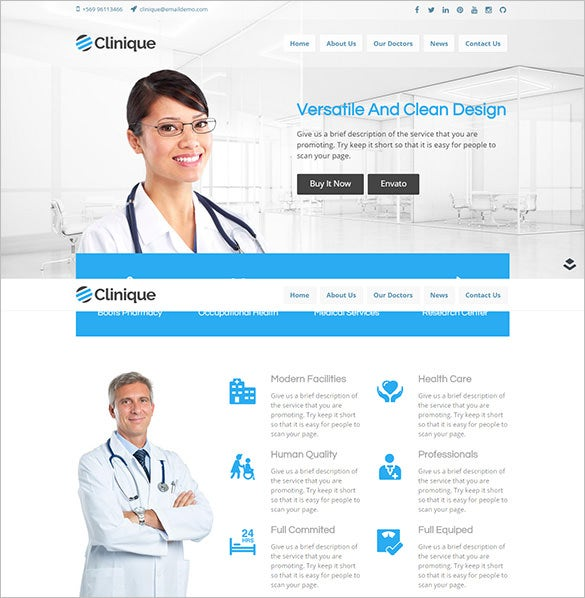 clinique layers medical wordpress php theme