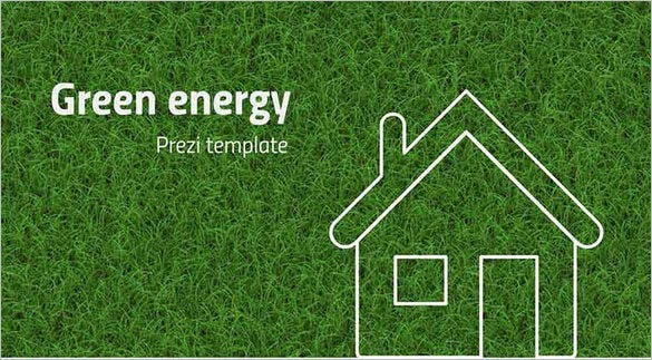 system and green energy prezi background template