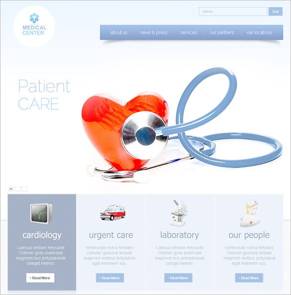 medical center psd theme