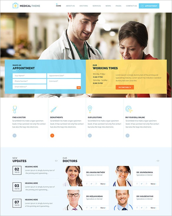 simple medical psd template