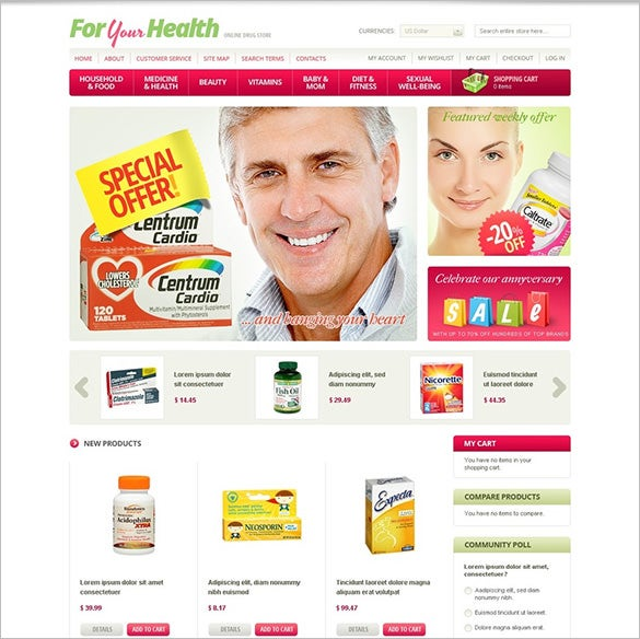 chemists shop medical magento theme