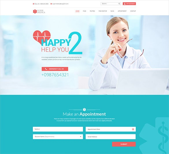 multipage medical psd template
