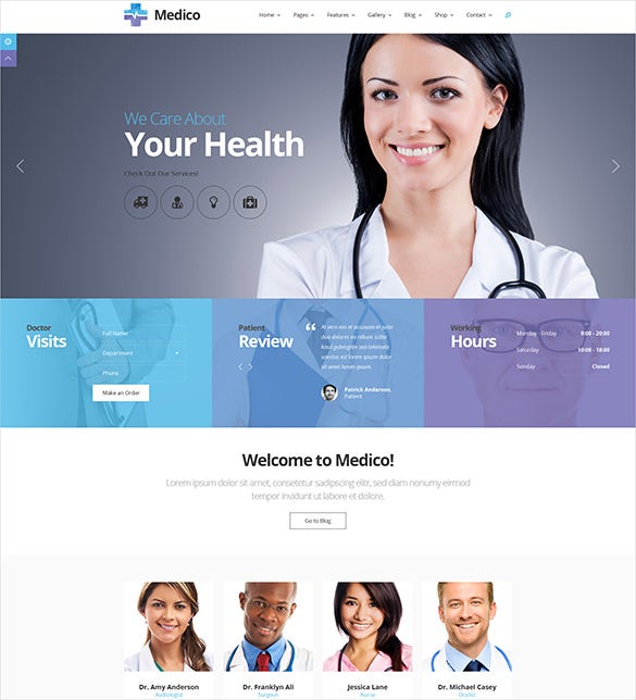 your health medical psd theme