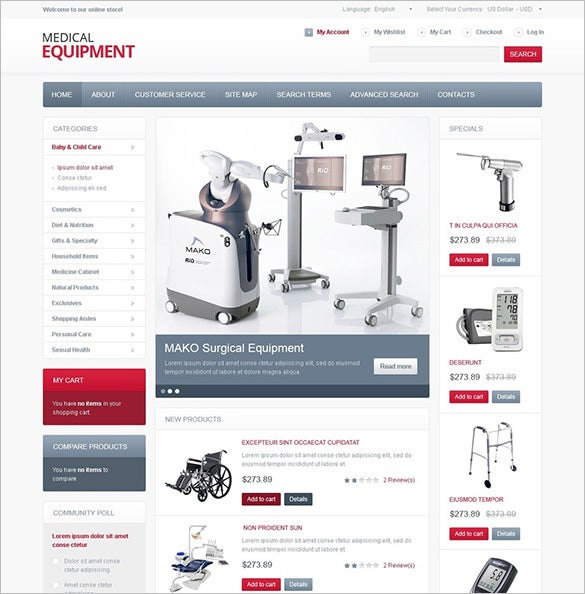 high tech medical equipment magento theme1