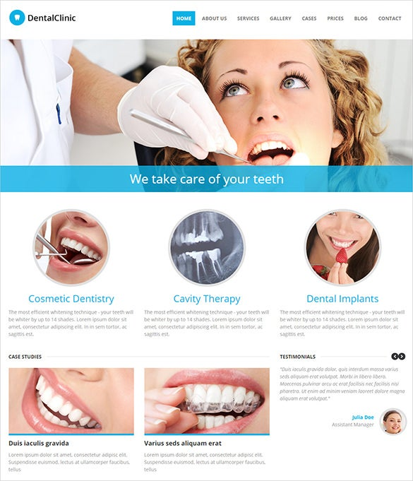medical dental clinic psd theme
