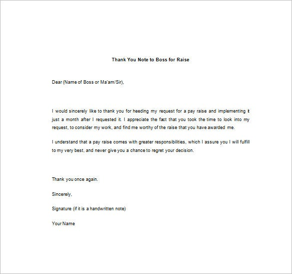 Thank You Note To Boss – 10+ Free Word, Excel, PDF Format Download