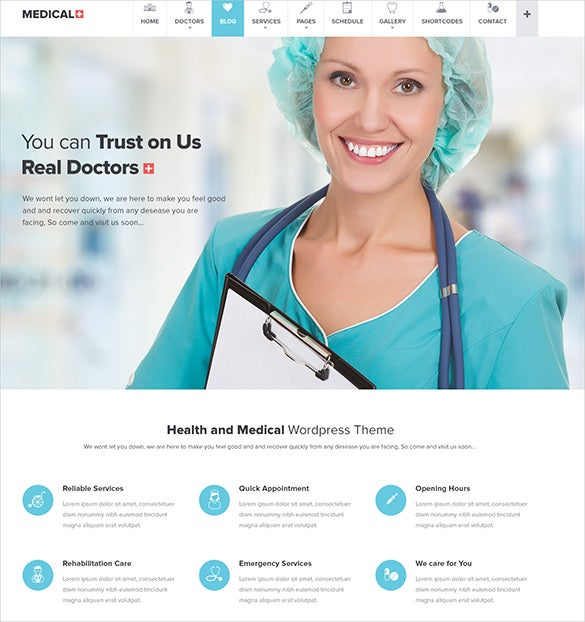 responsive medical psd theme