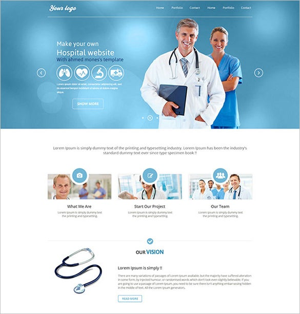 free medical psd theme