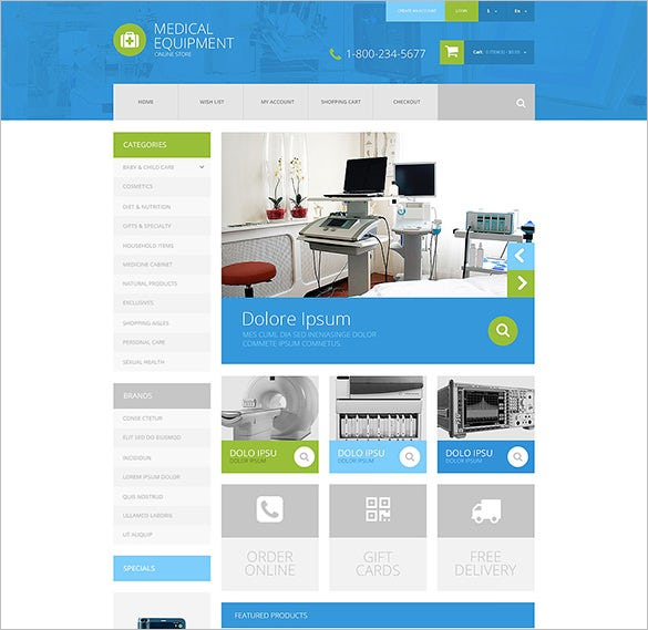 medical equipment opencart template1
