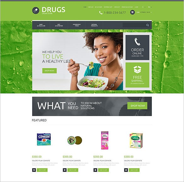 drug store responsive opencart template1