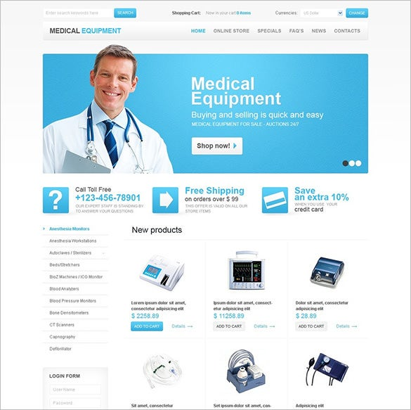 medical equipment virtuemart template1